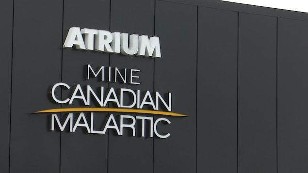 L'atrium Mine Canadian Malartic.