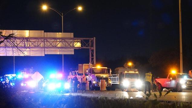 Scène de l'accident sur l'autoroute 440