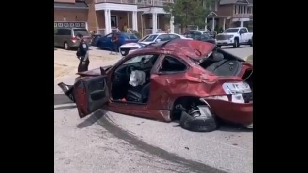 La voiture accidentée est une perte totale.
