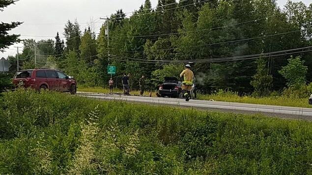 L'accident est survenu sur la route de Fossambault.