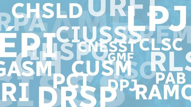 Des acronymes et des sigles.