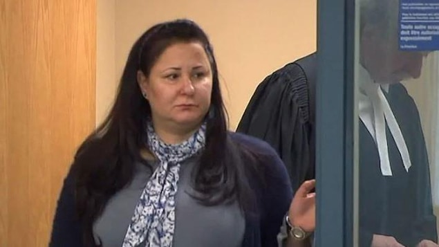 Adèle Sorella au palais de justice de Laval