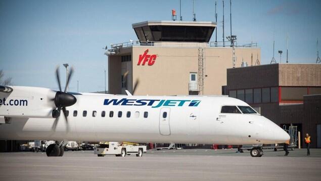 L'aéroport de Fredericton au Nouveau-Brunswick.