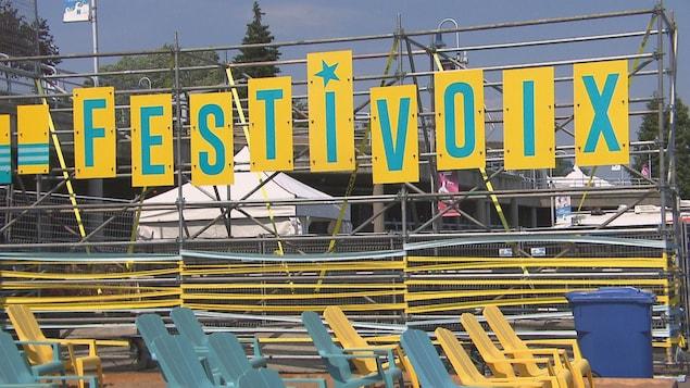 Les lettres formant le mot Festivoix