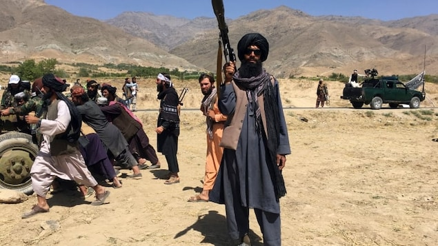 Taliban soldiers stand guard in Panjshir province northeastern of Afghanistan, Wednesday, Sept. 8, 2021. The Taliban government is reportedly ramping up pressure on neighbouring countries to return former Afghan air force personnel along with their equipment.