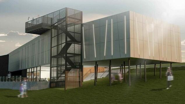 L'aile projetée du Musée de la Gaspésie