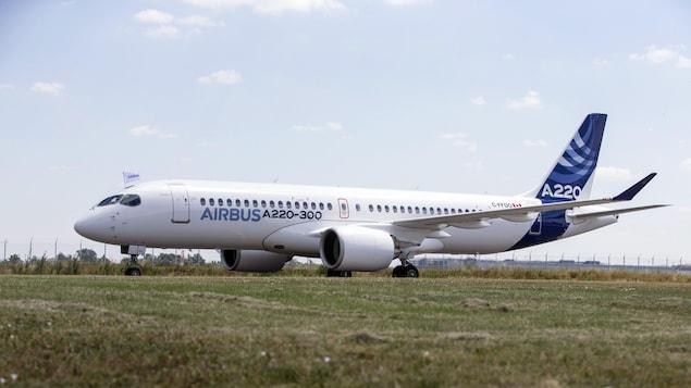 Un appareil Airbus A220.