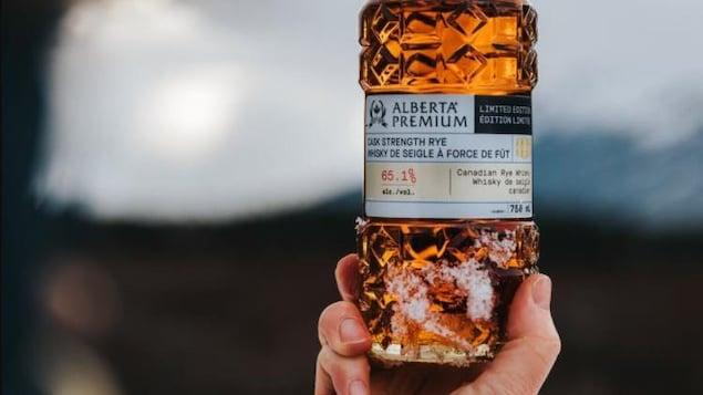 Une bouteille d'Alberta Premium.