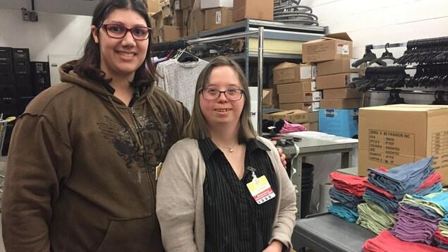 Joanie Carrière et Alexandra Lecompte auront chacune leur propre appartement dans l'immeuble La Chacunière, à Saint-Joseph-du-Lac
