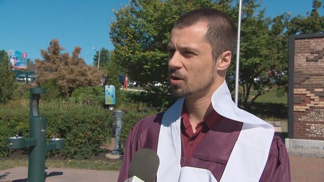 Alexandre Haché, un récent diplômé.