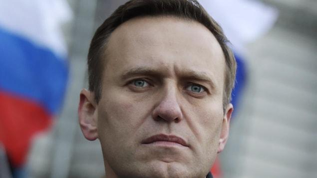 Le militant de l'opposition russe Alexeï Navalny lors d'une marche à Moscou.
