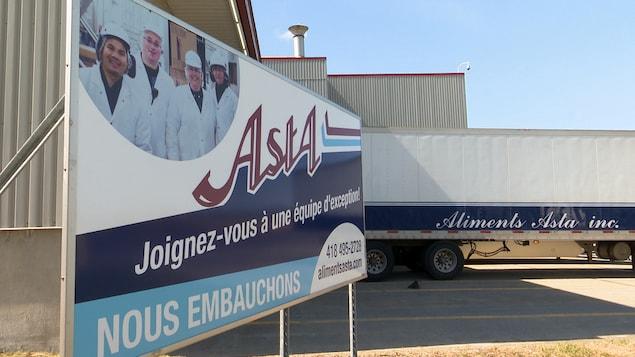 L'usine d'Aliments Asta.