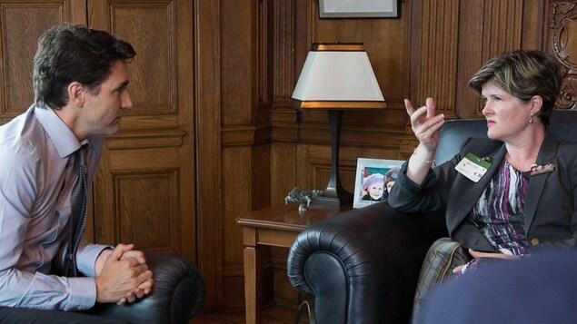 Justin Trudeau et Alison Azer le 17 mai 2016 à Ottawa