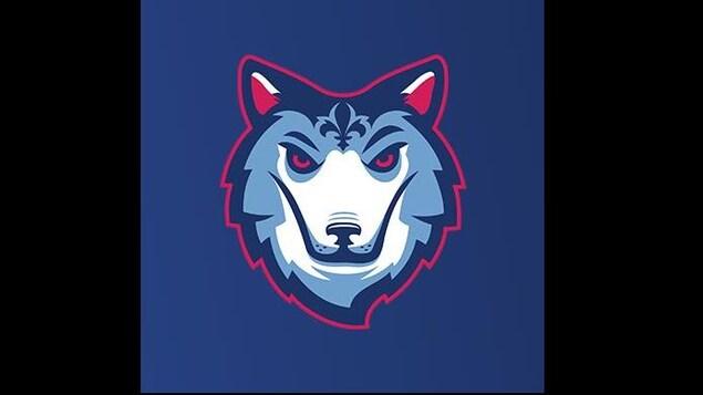 Un photo d'un logo représentant un loup