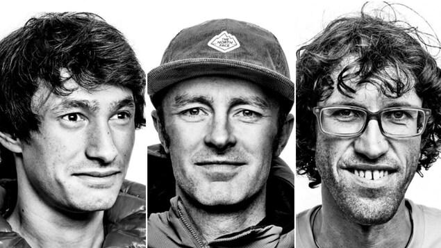 Montage photo des trois alpinistes.