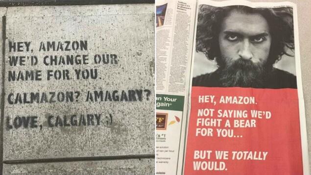 Une campagne publicitaire a été lancée jeudi à Seattle par la ville de Calgary pour tenter de convaincre Amazon d'installer son deuxième siège social dans la métropole albertaine.