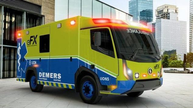 Ambulance électrique.