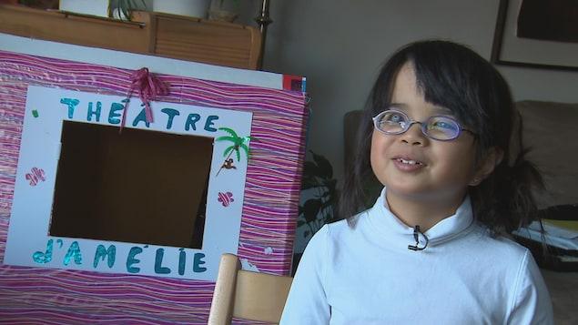 Amélie Boucher, 7 ans