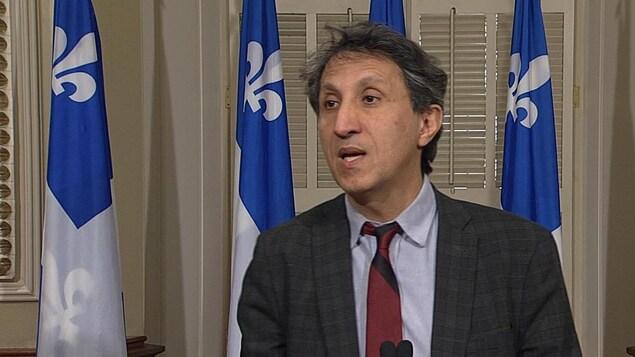 Amir Khadir, porte-parole de Québec solidaire