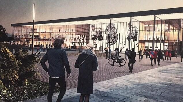Le futur domicile des Olympiques de Gatineau pourra aussi accueillir des spectacles et des compétitions d'envergure.