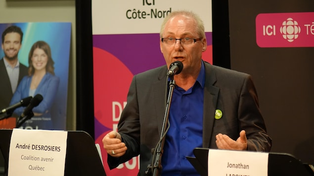 Le candidat de la Coalition avenir Québec, André Desrosiers