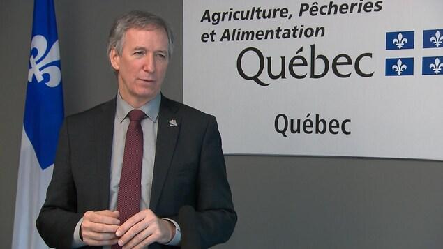 André Lamontagne, ministre de l'Agriculture.