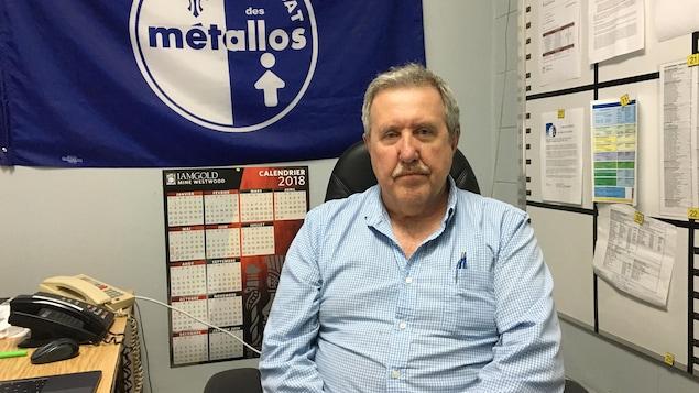 André Racicot, président du syndicat des métallos de la mine Westwood.