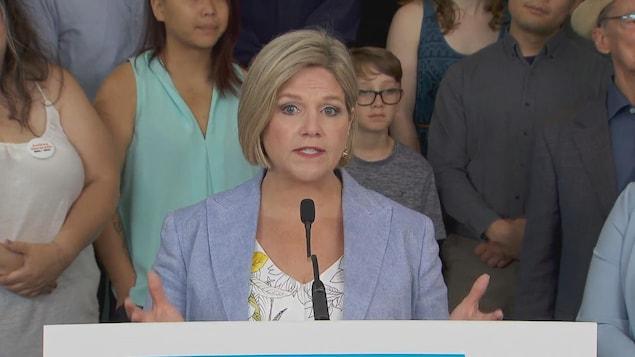 Andrea Horwath, la chef du NPD de l'Ontario