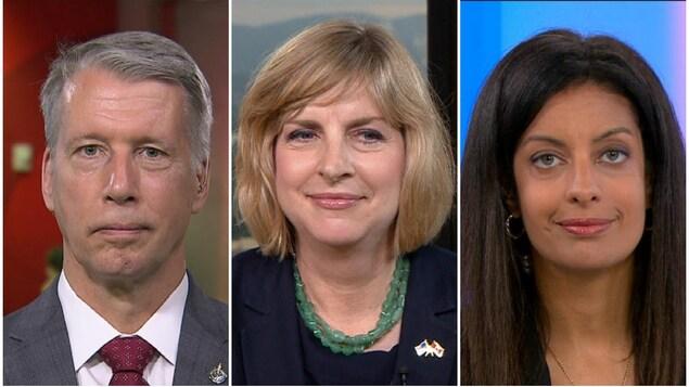 Entrevues avec Andrew Leslie, Elizabeth Moore Aubin et Dominique Anglade à l'émission « 24|60 » à ICI RDI