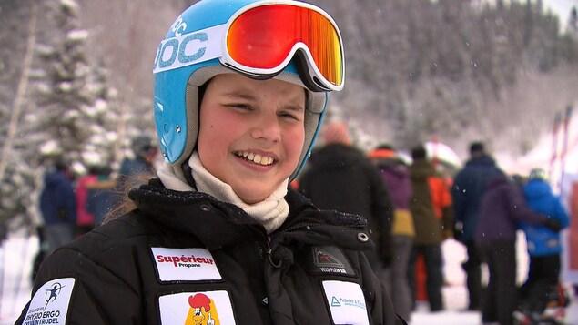 Anna Beaulieu, de Rimouski, a participé samedi aux épreuves de slalom géant.