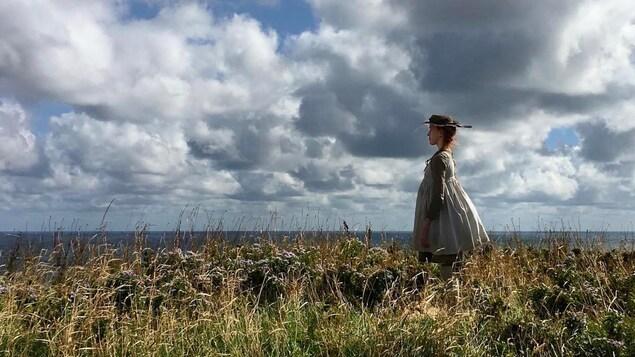 Photo de Anne au bord de la mer