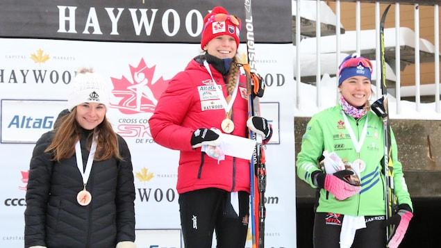 Anne-Marie Comeau a terminé au 3e rang de l'épreuve du 10 km en style classique lors des qualifications olympiques mercredi au Mont-Ste-Anne