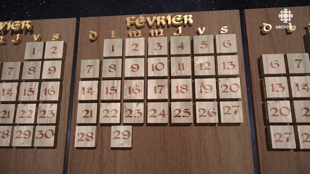 Calendrier de février auquel s'ajoute une case le 29 février.