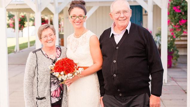 Photo prise lors du mariage d'Annie