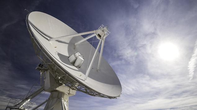Une antenne radio installée au Nouveau-Mexique.
