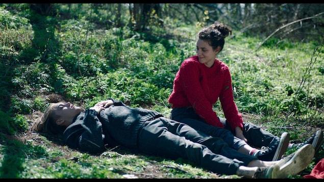Antoine Desrochers et Nahéma Ricci dans Antigone.