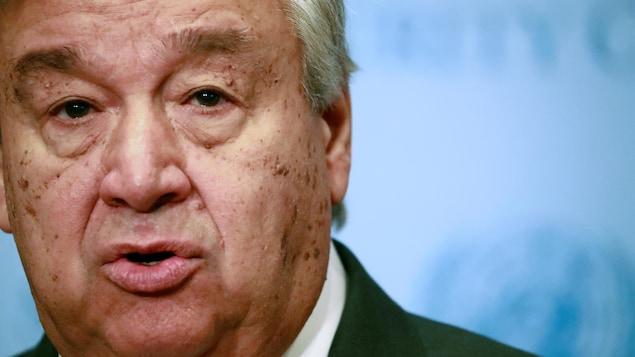 Le secrétaire général de l'ONU  Antonio Guterres.
