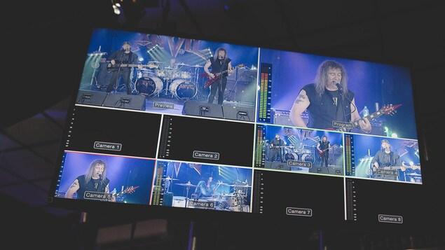 Captation d'un spectacle du groupe metal canadien Anvil