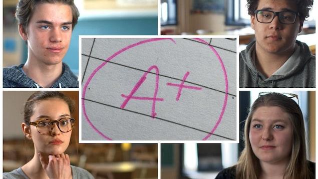 Portrait de quatre adolescents qui ont souffert d'anxiété de performance