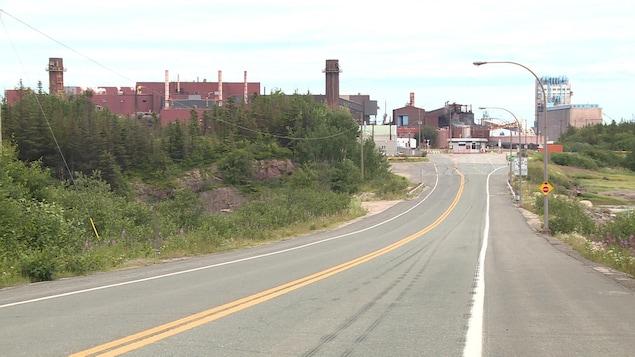L'usine d'ArcelorMittal à Port-Cartier.