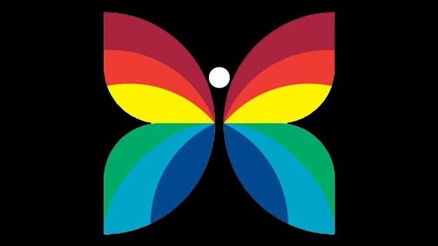 Le papillon de l'animation graphique de Radio-Canada