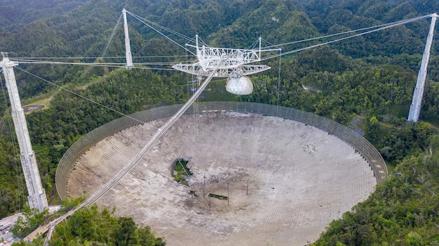 Le télescope géant d'Arecibo, à Porto Rico.