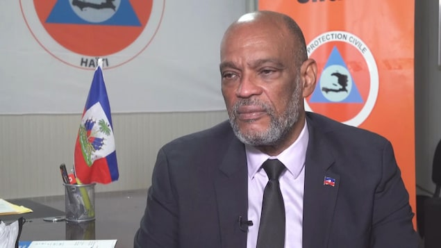 Le premier ministre haïtien Ariel Henry en entrevue.