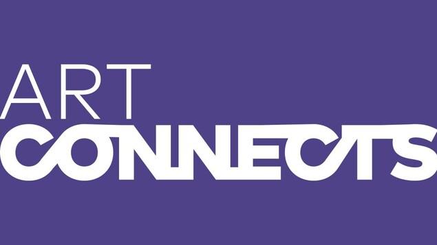 L'Affiche Art Connects sur fond violet.