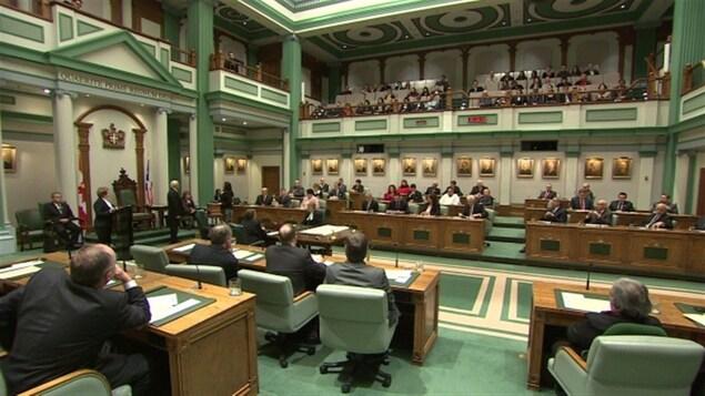 L'Assemblée législative de Terre-Neuve-et-Labrador à Saint-Jean de Terre-Neuve.