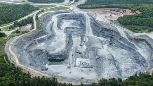 La mine d'or à Touquoy des airs.