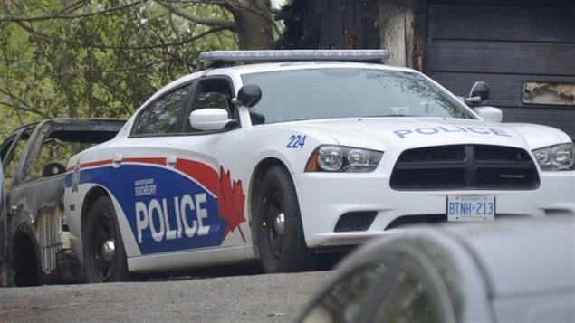 Une voiture de police du Grand Sudbury.