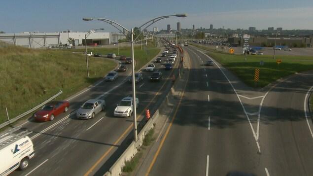 L'autoroute Laurentienne à Québec