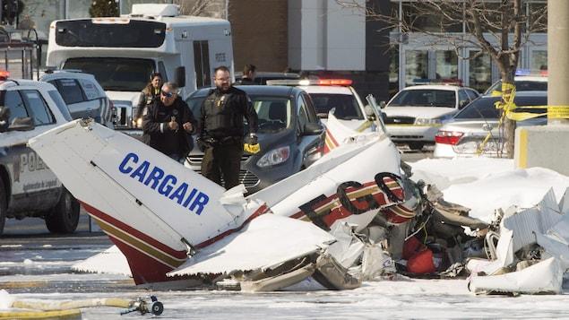 Les enquêteurs du BST se sont rendus sur les lieux de la collision entre deux petits avions.