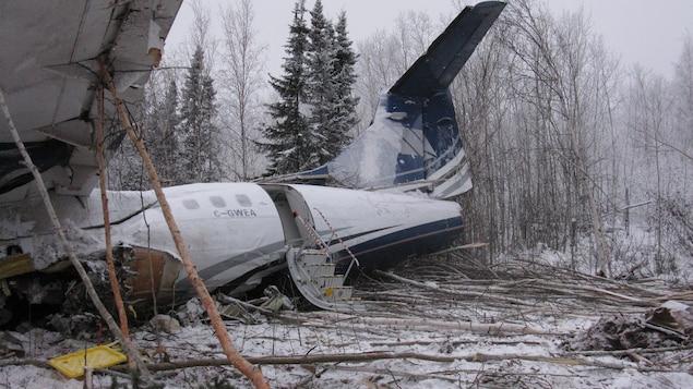L'avion écrasé près de l'aéroport de Fond-du-Lac, au nord de la Saskatchewan.